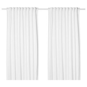 IKEA Tibast White Curtain Panels